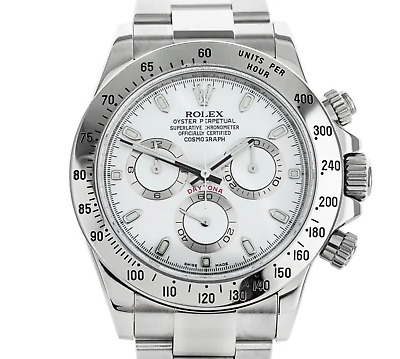 $ CDN41368.55 • Buy Rolex Daytona 40mm. Stainless Steel Men Watch Reference 116520 Box & Papers 2010