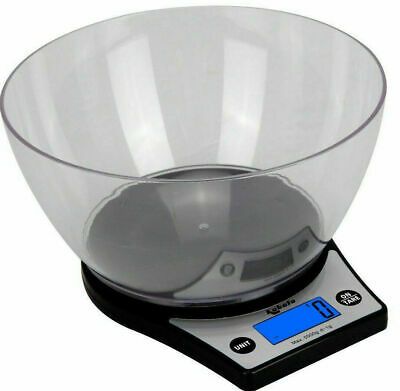 £10.39 • Buy 5KG Digital Kitchen Scales LED LCD Cooking Food Weighing Scale With Bowl Black