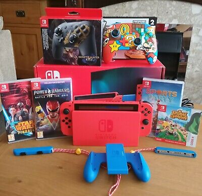 $ CDN600.42 • Buy Nintendo Switch Mario Red And Blue Limited Edition Includes Animal Crossing