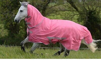 £37 • Buy BUCAS Freedom Fly Sheet Full Neck (Combo Fly Rug), Hot Pink, 5'3 , 5'6  Or 5'9