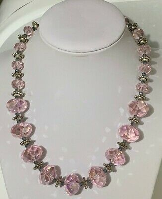 $ CDN21.92 • Buy Vintage Necklace - Soft Pink Faceted. Lots Of Sparkle.