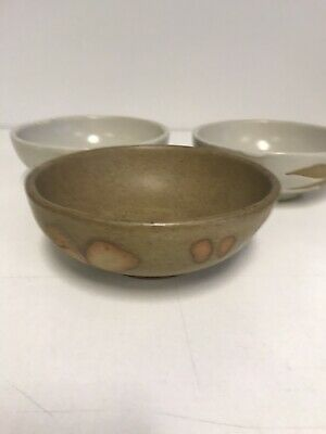£18 • Buy 3x Unusual Studio Pottery Bowls Nibbles Candle Decoration