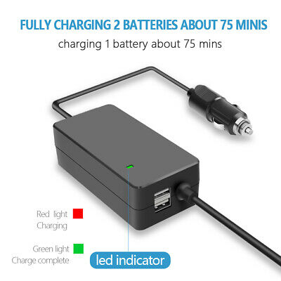 AU42.16 • Buy 3 In 1 Car Charger Battery Charging Hub Adapter For DJI Mavic Air 2 Drone