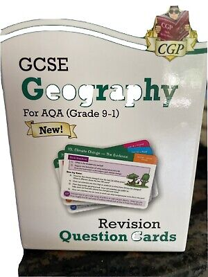 £0.99 • Buy Cgp Gcse Geography Revision Cards/flash Cards Aqa 9-1