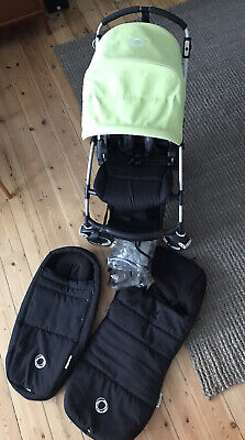 £170 • Buy 2012 Bugaboo Bee Pushchair With Cocoon, Raincover And Footmuff