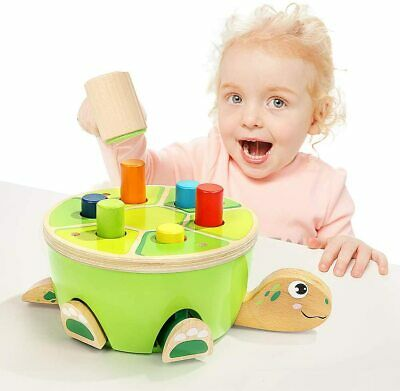 £20 • Buy Hammering Pounding Bench Wooden Toy With Mallet, Gifts For 2 Year Old Girl Boy