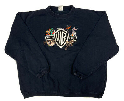 $29.69 • Buy Vtg Warner Brothers Men's Blue Embroidered Looney Tunes Sweater Size XL