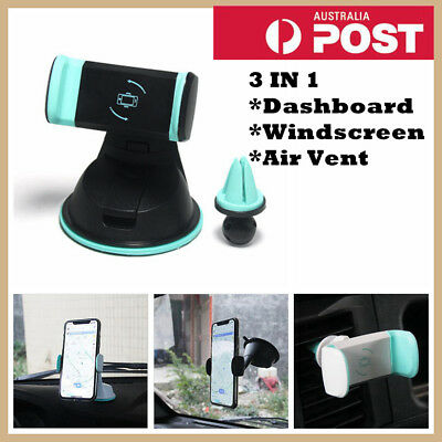 AU13.99 • Buy Universal Windscreen Dashboard Car Air Vent Phone Holder Mount For Mobile Phone