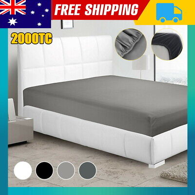 AU18 • Buy 2000TC Ultra Soft Fitted Sheet Super King/King/Queen/Double/K Single/Single Bed