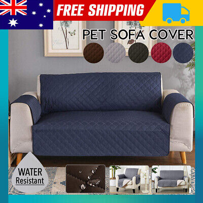 AU23.39 • Buy Sofa Cover 1/2/3 Seater Pet Dog Quilted Couch Chair Lounge Protector Slipcovers