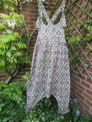 £79 • Buy SALE !! Lagenlook,Quirky Drop Crotch, Baggy Harem Dungarees, Knotted Ties 12/14