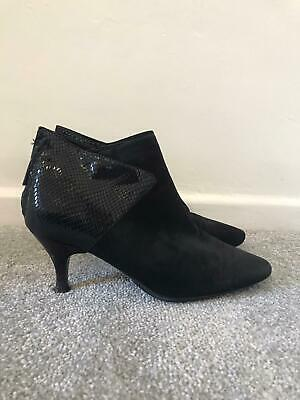 £38.99 • Buy Russell & Bromley Boots Size 5 Black Suede Stiletto Ankle Boots Aquatalia