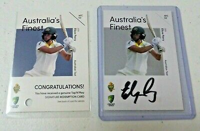 AU250 • Buy 2019/2020 AUSTRALIA'S FINEST Signed AUTO Cricket Card ELLYSE PERRY #56/100 WBBL