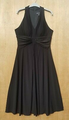 £12.99 • Buy Jessica Howard Size 12 Black Fit And Flare Stretch Jersey Dress EXCELLENT COND.
