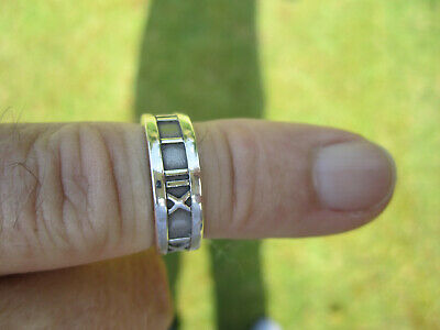 £89 • Buy Tiffany &Co Sterling Silver 925 ATLAS Ring 100% Authentic !! Excellent Condition