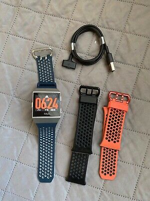 AU200.44 • Buy Fitbit Ionic Adidas Edition Smartwatch Bundle - Watch, Charger & Extra Bands