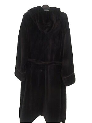 £26 • Buy Ladies Rosie For Autograph M&s Black Dressing Gown Size 16-18 Worn Twice Was £55