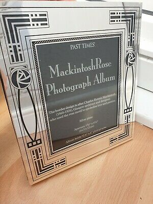 £25 • Buy Mirrored Silver Plated Mackintosh Rose Photograph Album Frame Past Times 9.5
