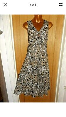 £6 • Buy Beaded Chiffon Style Cocktail Party Jessica Howard Dress Size 18 But Fits 16.