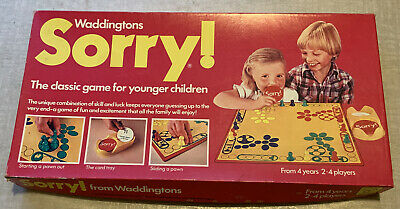 £17 • Buy VintageBoard Game  'Sorry!' Waddingtons 1980Collectable