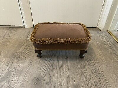 £30 • Buy Authentic Vintage Sherborne Footstool Foot Rest Seat With Queen Anne Style Legs