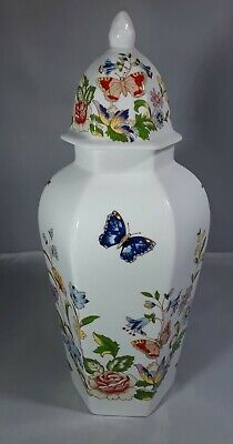 £12 • Buy Stylish Aynsley Cottage Garden Tall Vase Jar  With Lid Butterflies Flowers