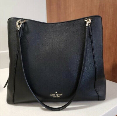 $ CDN176.24 • Buy Kate Spade Jackson Leather Large Triple Compartment Shoulder Tote