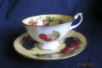 £1.99 • Buy Queen's Rosina China  Antique Fruit Series Cabinet Tea Cup And Saucer
