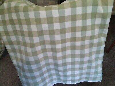 £40 • Buy Pair Of Handmade Blackout Lined Curtains Drapes In Olive Gingham Fabric 2