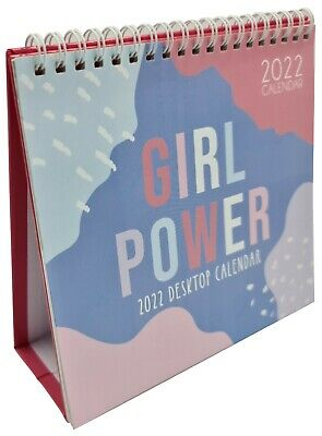 £3.29 • Buy 2022 Month To View Desk Calendar Home Office Table Work Top Planner GIRL POWER