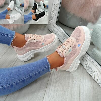 $ CDN17.29 • Buy Womens Ladies Lace Up Chunky Trainers Sneakers Plimsolls Fashion Shoes Size