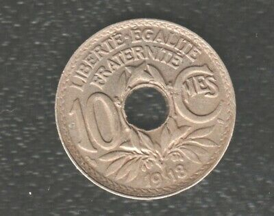 £0.49 • Buy France 10 Centimes 1918