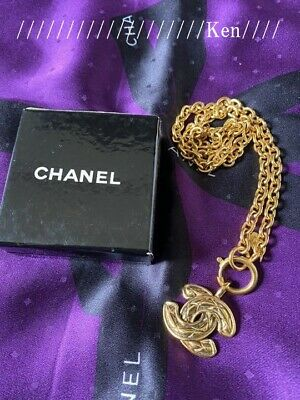 £991.18 • Buy CHANEL Necklace AUTH Coco Mark Chain Logo Vintage Rare Gold Matrasse Cute F/S 2