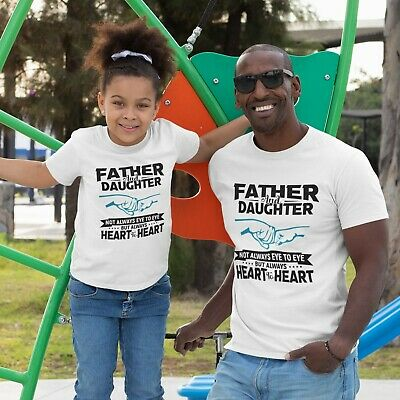£8.99 • Buy Father And Daughter T-shirt Miss You Dad Matching Daddy Papa Girl Tee Top