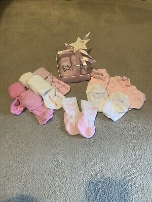 £1.50 • Buy Baby Girl Socks And Mitts Bundle 0-3 Months