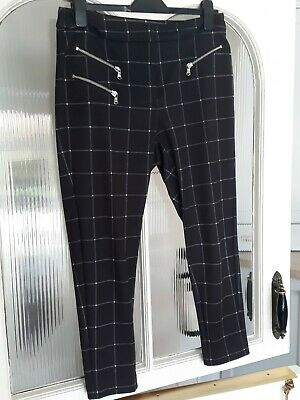 £1.10 • Buy M&S Navy Checked Trousers 12 Short Good Condition