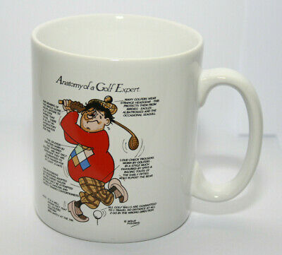 £14.99 • Buy Vintage Tams  Anatomy Of A Golf Expert  Mug Made In England Excellent