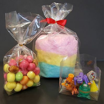 £2.60 • Buy Clear Gusset Cello Display Bags For Wedding Gifts & Party Sweets Food Twist Ties