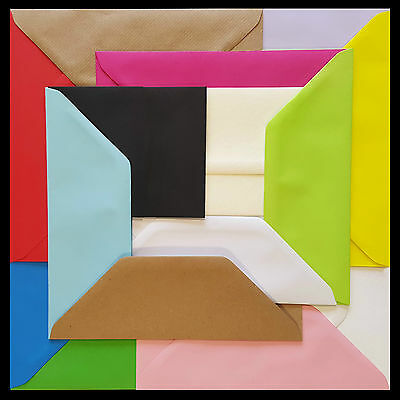 £3.25 • Buy DL Coloured Envelopes 110x220mm 4x8.5  Greetings Cards Party Invitations & Craft