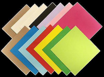 £1.99 • Buy Square Coloured Envelopes 5x5 6x6 For Greeting Cards Party Invitations & Crafts