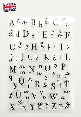 £3.75 • Buy Alphabet Letters Silicone Clear Reusable Stamps Art & Crafts Scrapbook