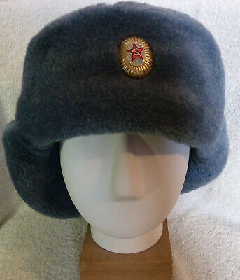 £1.49 • Buy Russian Soviet Military USSR Army Ushanka Winter Hat With Badge