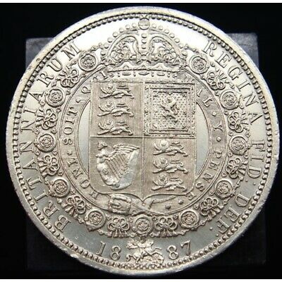 £55 • Buy British 1887 1/2 Crown Victoria Sterling Silver Coin High Grade