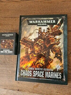 £15 • Buy Warhammer 40k Chaos Space Marines Codex 2nd Issue And Datacard Pack