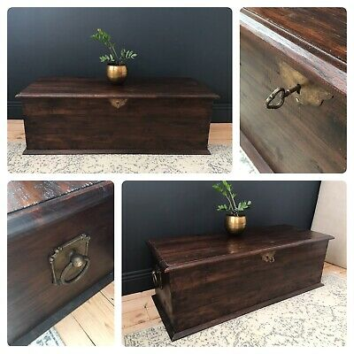 £495 • Buy Lombok Indonesian Teak Solid Wood Heavy Trunk Chest Storage CAN DELIVER