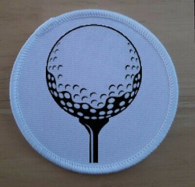 £3.75 • Buy Golf Golfer Tee Ball Patch Badge Patches Badges