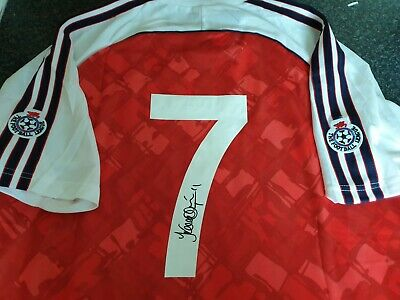 £85 • Buy Kevin Campbell Signed Arsenal Title 1991 Retro Shirt *PROOF* Private Signing
