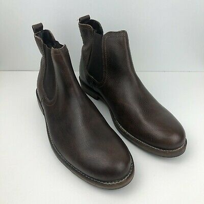 £4.99 • Buy NEW Red Herring Mens Faux Leather Brown Chelsea Casual Boots Size UK9 EU43
