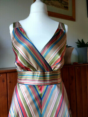 £15 • Buy Laura Ashley Striped Party Dress Size 12