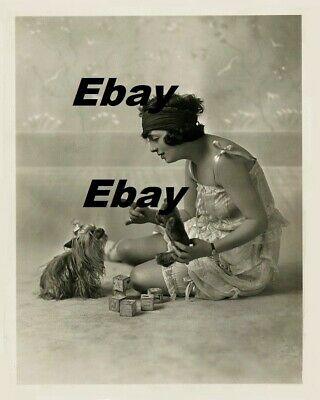 $14.95 • Buy Mabel Normand With Her Yorkie Puppy Dog Movie Star 8x10 Photo W/ Border MN1